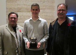 2014 Winner Kevin Baptie receives Award from W-JETS Director Phil Venoit and employer Derek Emery